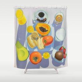 Brazilian Breakfast Shower Curtain