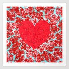Frosty heart Art Print