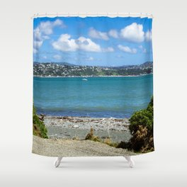 Wellington Harbour Landscape Shower Curtain