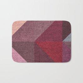 Warm Textured Chevron Geometrical Pattern Bath Mat
