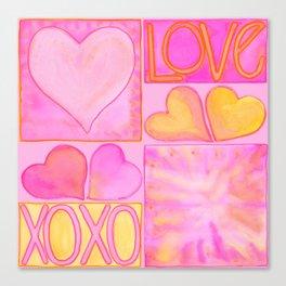 Love XOXO Blocks Canvas Print