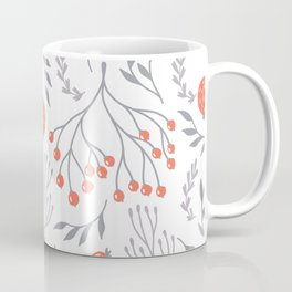 Red Berry Floral Coffee Mug