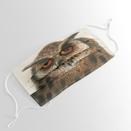 Great horned owl by George Edwards, 1758 (benefiting The Nature Conservancy) Face Mask