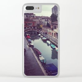 Morning Canal in Venice Clear iPhone Case