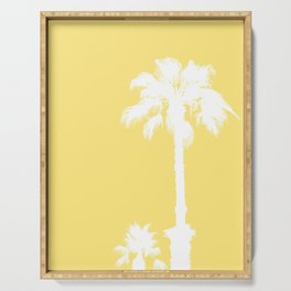 Palm Silhouettes On Yellow Serving Tray