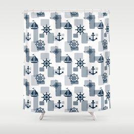 Nautical design 5 Shower Curtain