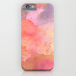 Sunset Color Palette Abstract Watercolor Painting iPhone Case