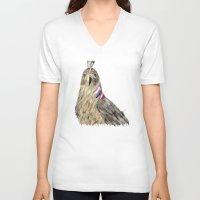 hawk V-neck T-shirts featuring the hawk by bri.buckley