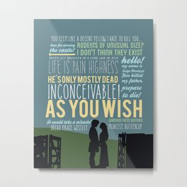 as you wish  Metal Print