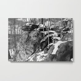 A winter hike in Athens Metal Print