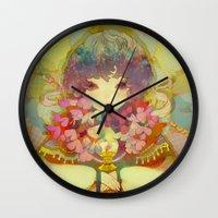 ladybug Wall Clocks featuring ladybug by kiDChan