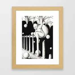 Stuck in architecture Framed Art Print