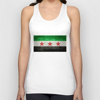 "islam Tank Tops featuring The Syrian ""independence flag""  retro style version by Bruce Stanfield"