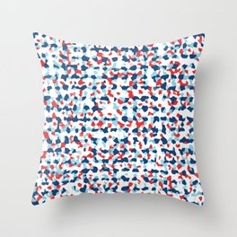 Abstract Beach Floral Throw Pillow