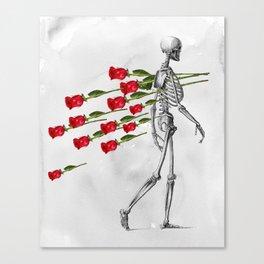 Skeleton&Roses Canvas Print