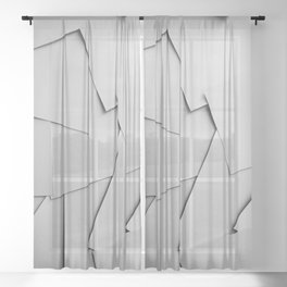 Sheets of Paper Sheer Curtain