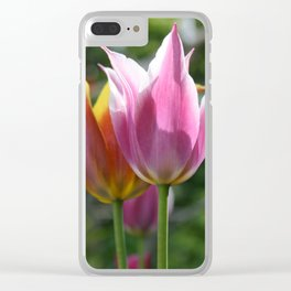 Field of Tulips by Mandy Ramsey, Haines, Alaska Clear iPhone Case