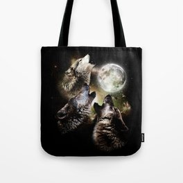 Great Graphic Design Three Wolf Moon Tote Bag