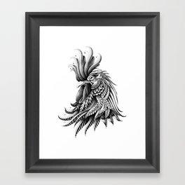 Ornately Decorated Rooster Framed Art Print