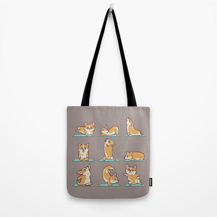 Corgi Yoga Tote Bag