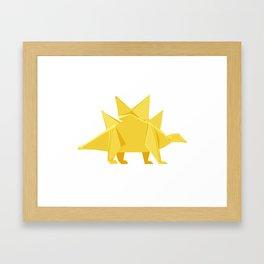 Origami Stegosaurus Flavum Framed Art Print