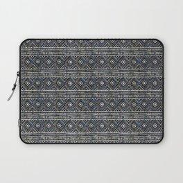 African Tribal Blockprint // Navy & Eggshell Laptop Sleeve