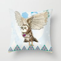 journey Throw Pillows featuring Journey by Jo Cheung Illustration