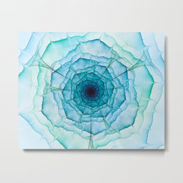 Aqua-green marine flower Metal Print
