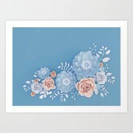 Rose Bleu Art Print
