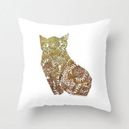 Golden Fox origami  Throw Pillow