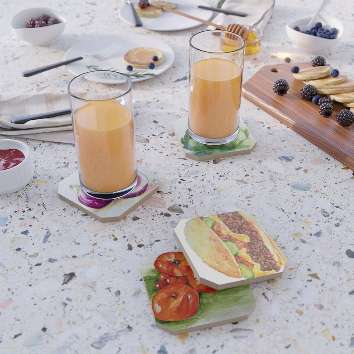 Mouthwatering food coaster set Coaster