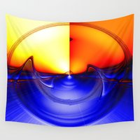 sonic Wall Tapestries featuring sub sonic waves by donphil