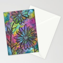"""Flower Madness""   Original painting by Mimi Bondi Stationery Cards"