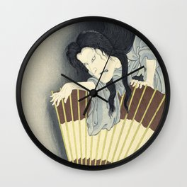 Samurai Aoyama and the ghost Okiku, Toyohara Kunichika, 1892 Wall Clock