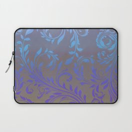 Ombre Damask Purple and Blue Laptop Sleeve