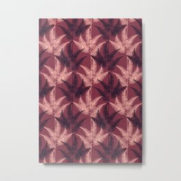 Burgundy Jungle #society6 #Burgundy #pattern Metal Print