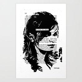 He Broke the Silence Art Print