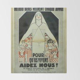 Vintage poster - Musee des Instruments de Medecine Throw Blanket