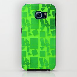 Geometric Shapes- Cool Tones iPhone Case