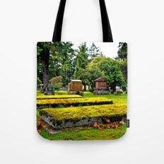 Scenic cemetery Tote Bag