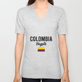 Colombia Bogota Travel Souvenir Gift Idea Unisex V-Neck