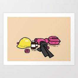 Yoshimi Battles the Pink Robots Art Print