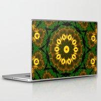 newspaper Laptop & iPad Skins featuring Newspaper Swirl  by Katherine Barnett
