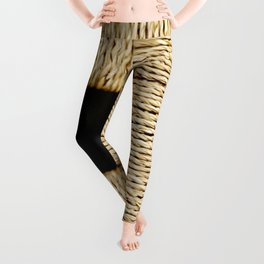 Weaved texture sqr. Leggings