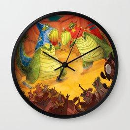 Dinoluchadores Wall Clock