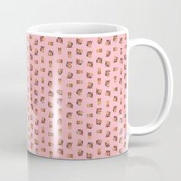 Monkey Pixel Art Emoji, Pink Coffee Mug