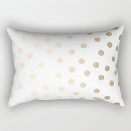 Simply Dots in White Gold Sands Rectangular Pillow