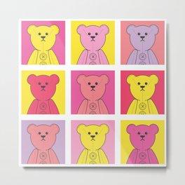 Grumpy Teds Bright Block Metal Print