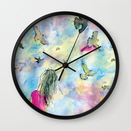 I wish I knew how it would feel to be free Wall Clock
