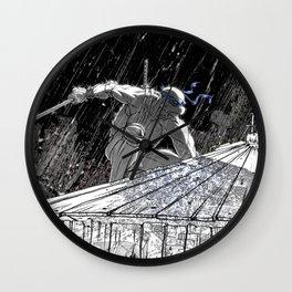 Black and White Ninja Turtle Leonardo Wall Clock